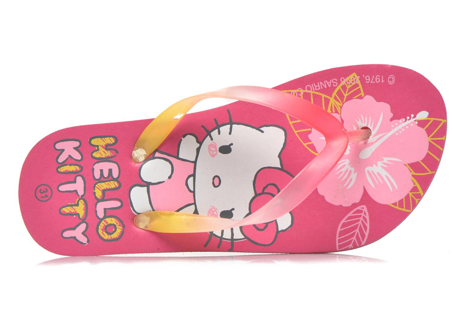Flip flops Hello Kitty Hk Lecarre Ss E Pink view from the left