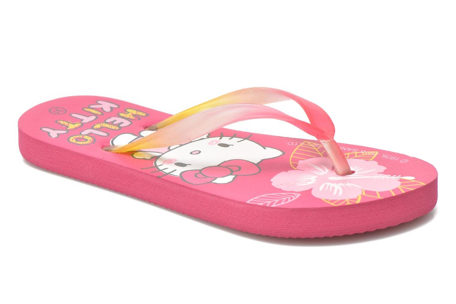 Tongs Hello Kitty Hk Lecarre Ss E Rose vue détail/paire
