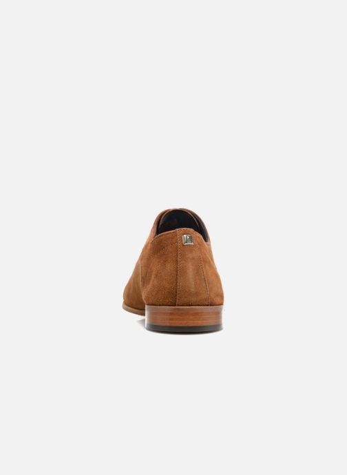 Zapatos con cordones Azzaro Xicola Marrón vista lateral derecha