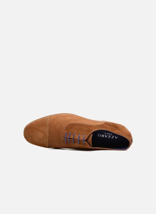 Zapatos con cordones Azzaro Xicola Marrón vista lateral izquierda