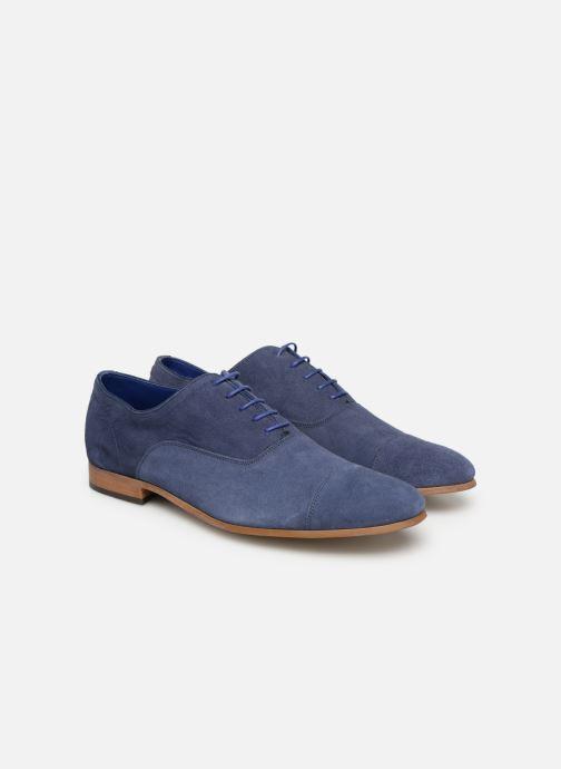 Zapatos con cordones Azzaro Xicola Azul vista 3/4