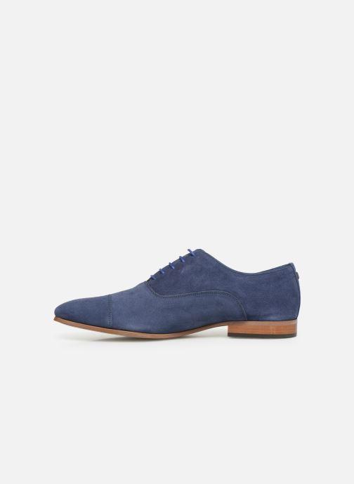 Zapatos con cordones Azzaro Xicola Azul vista de frente