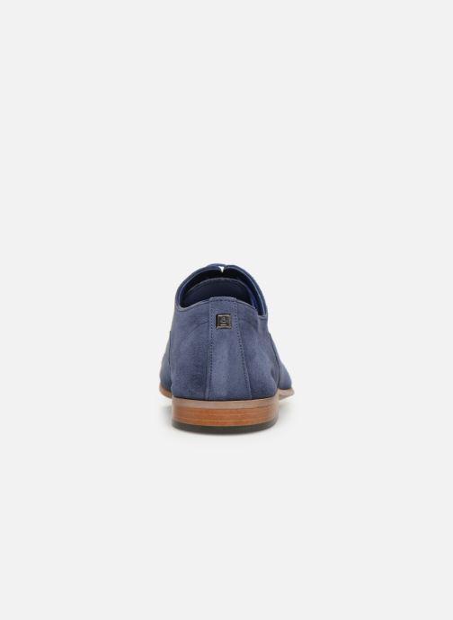 Zapatos con cordones Azzaro Xicola Azul vista lateral derecha