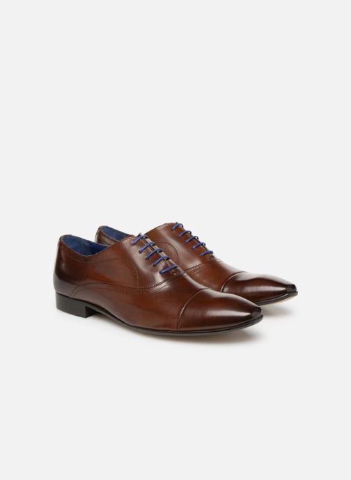 Zapatos con cordones Azzaro Ansard Marrón vista 3/4