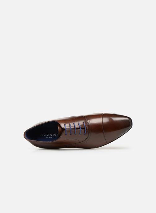 Zapatos con cordones Azzaro Ansard Marrón vista lateral izquierda