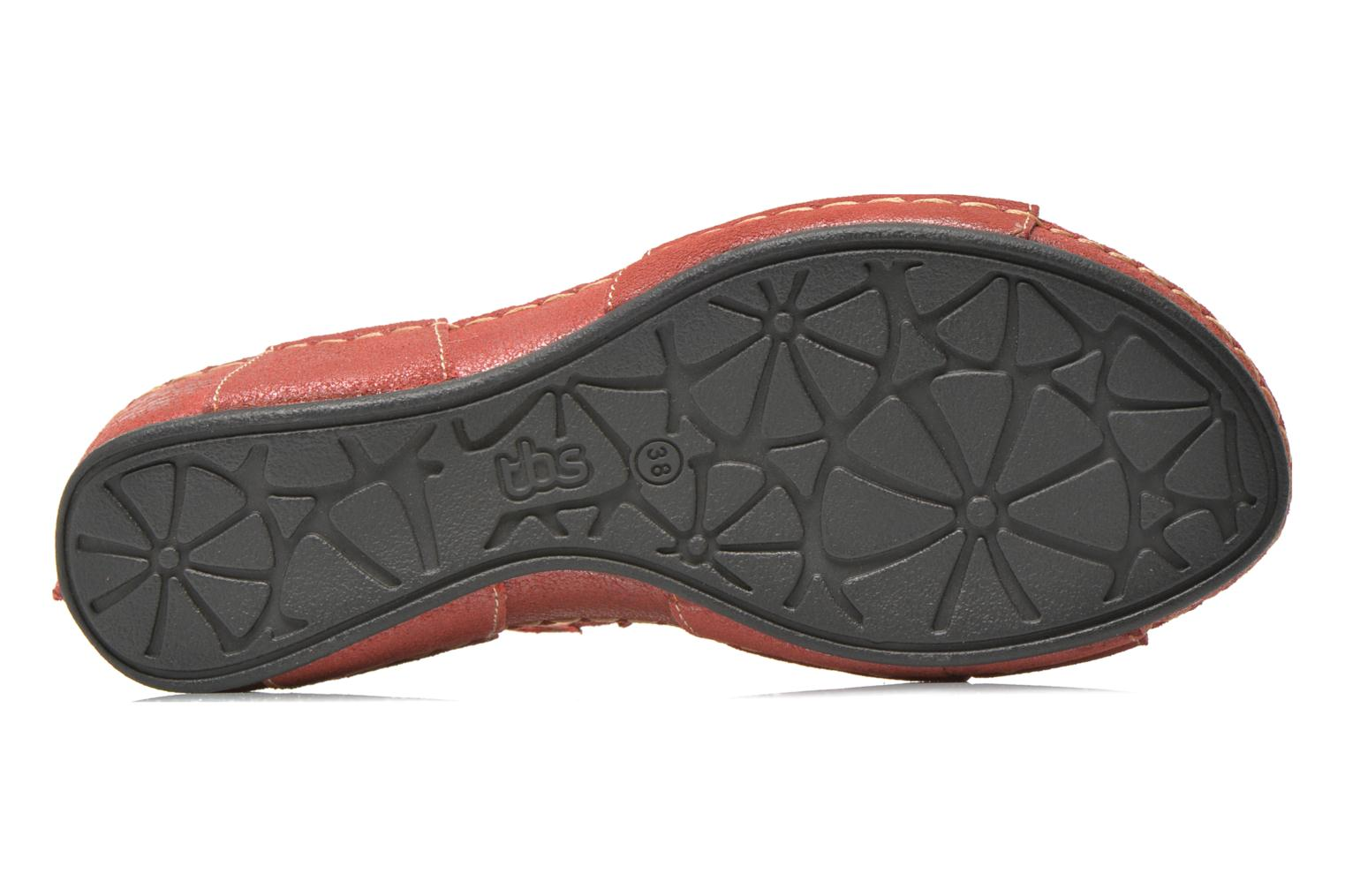 Sandals TBS Easy Walk Vorael Burgundy view from above