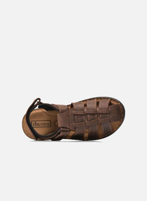 Sandales et nu-pieds TBS Easy Walk Barrow Marron vue gauche