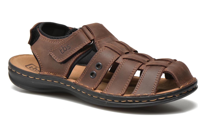 Sandales et nu-pieds TBS Easy Walk Barrow Marron vue détail/paire