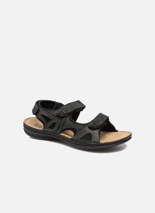 Sandales et nu-pieds TBS Easy Walk Berric Noir vue détail/paire