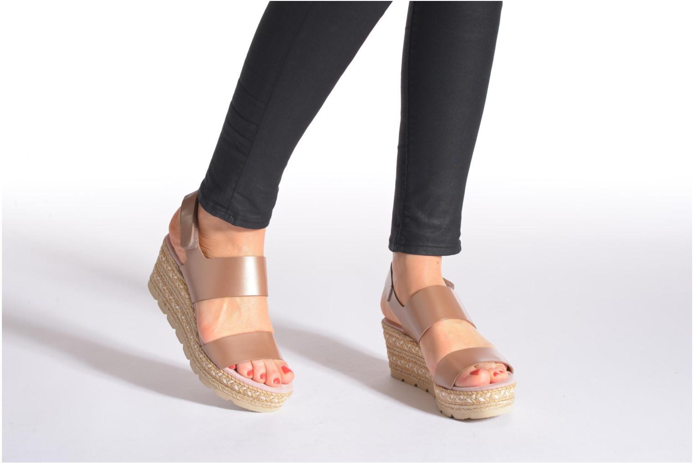 Sandales et nu-pieds Kanna Félicité Beige vue bas / vue portée sac