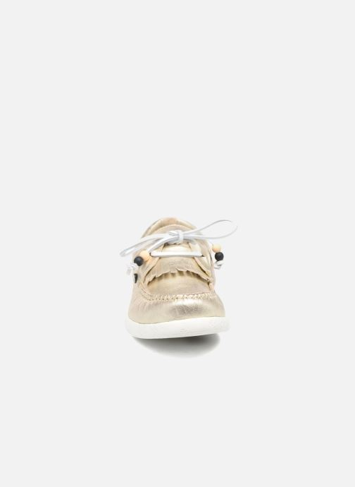 Schnürschuhe Dolfie Landom gold/bronze schuhe getragen