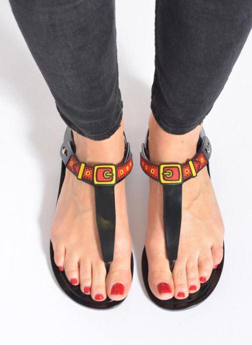 Sandales et nu-pieds Love Moschino Bouclette Noir vue bas / vue portée sac