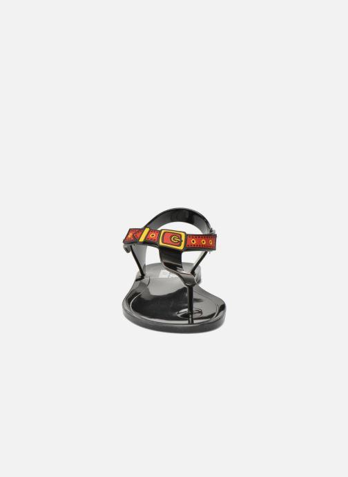 Sandalias Love Moschino Bouclette Negro vista del modelo