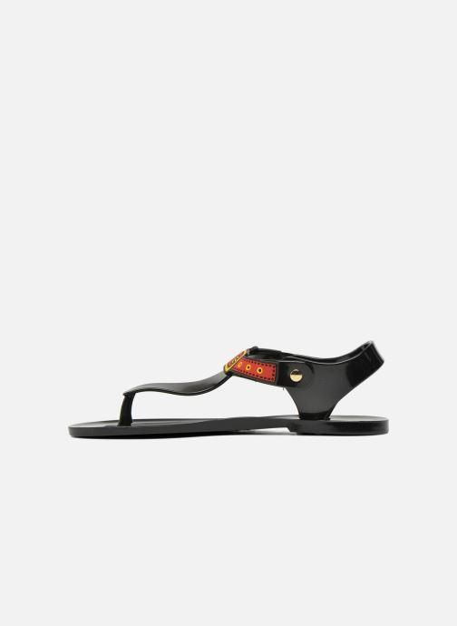 Sandalen Love Moschino Bouclette schwarz ansicht von vorne