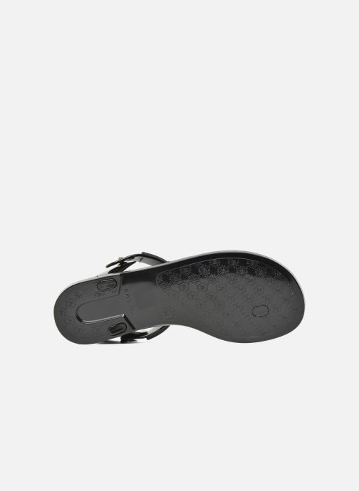 Sandalias Love Moschino Bouclette Negro vista de arriba