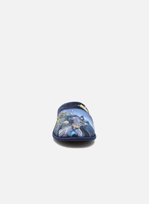 Chaussons Batman Bat Bamiyan Bleu vue portées chaussures