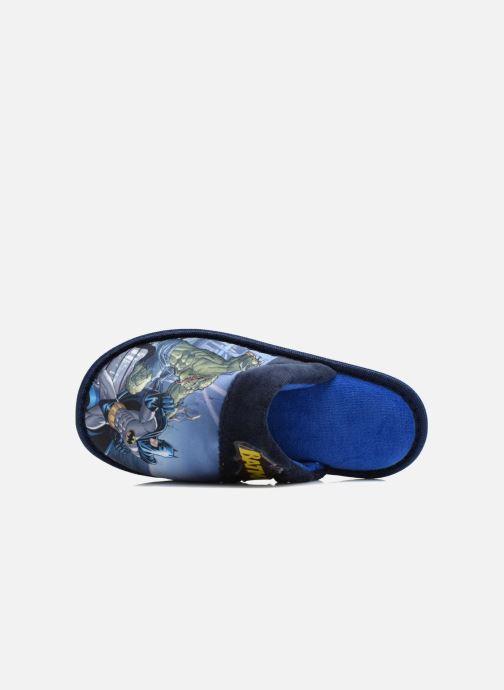 Pantuflas Batman Bat Bamiyan Azul vista lateral izquierda
