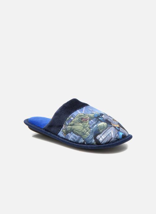 Pantuflas Batman Bat Bamiyan Azul vista de detalle / par