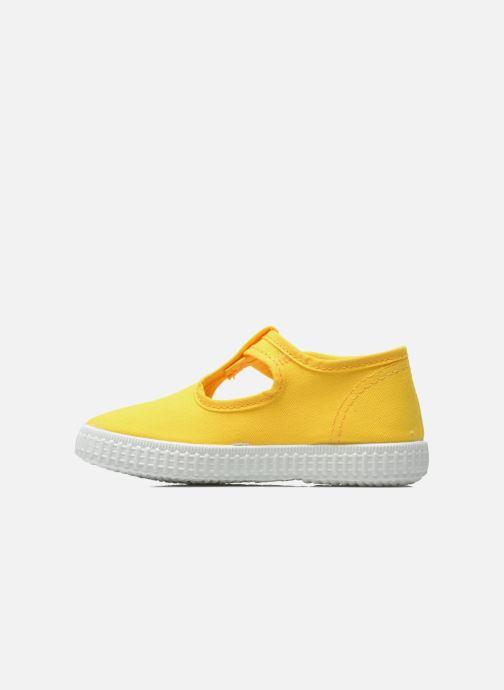 Sneaker Cienta Foliv gelb ansicht von vorne