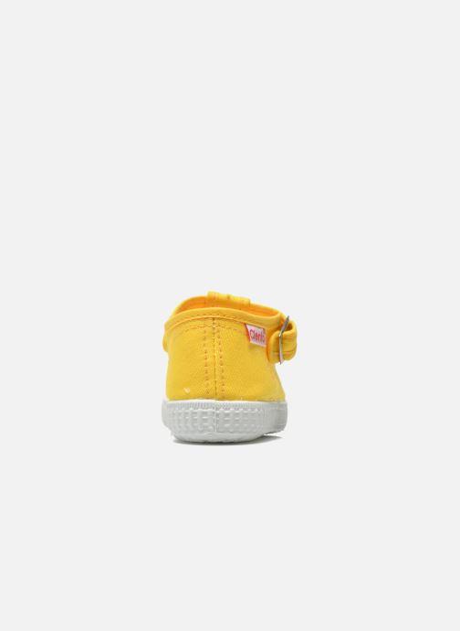 Sneaker Cienta Foliv gelb ansicht von rechts