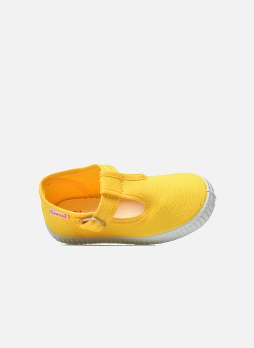 Sneaker Cienta Foliv gelb ansicht von links
