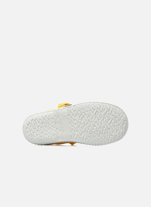 Sneaker Cienta Foliv gelb ansicht von oben
