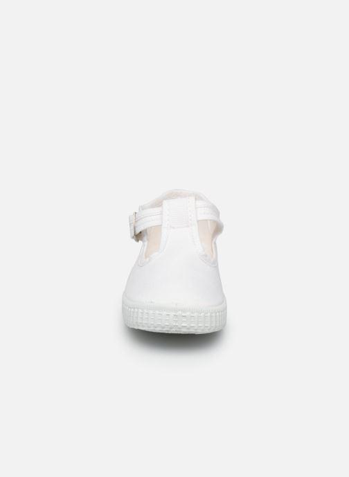 Baskets Cienta Foliv Blanc vue portées chaussures