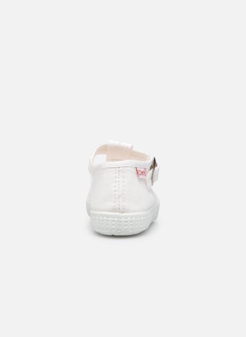 Sneaker Cienta Foliv weiß ansicht von rechts