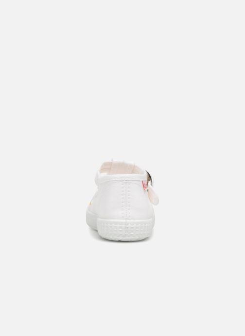 Baskets Cienta Foliv Blanc vue droite