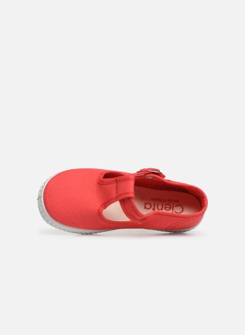 Sneaker Cienta Foliv rot ansicht von links