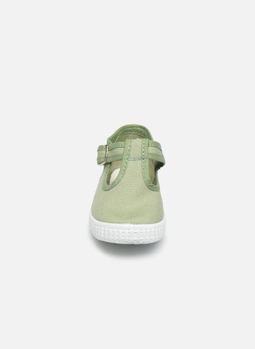 Baskets Cienta Foliv Vert vue portées chaussures