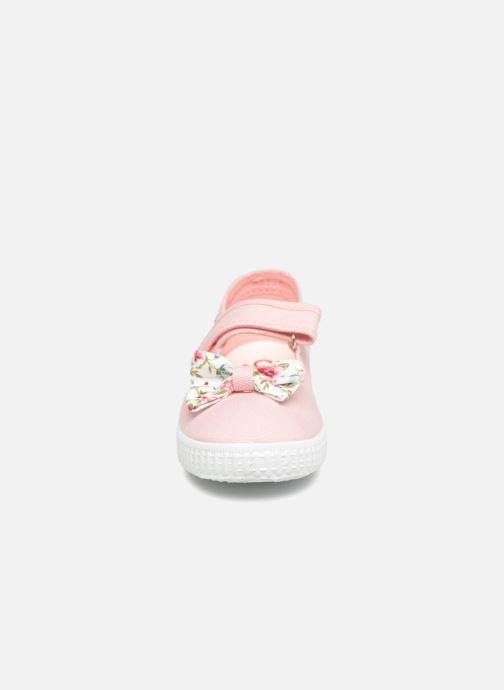 Ballerines Cienta Constanza Rose vue portées chaussures