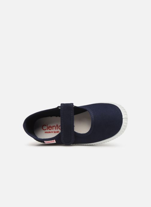 Ballet pumps Cienta Darwina Blue view from the left