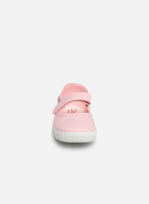 Ballerines Cienta Darwina Rose vue portées chaussures