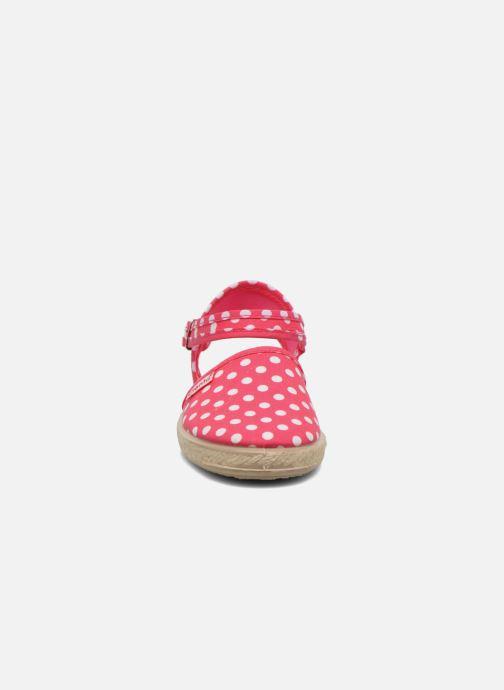 Sandales et nu-pieds Cienta Margot Rose vue portées chaussures