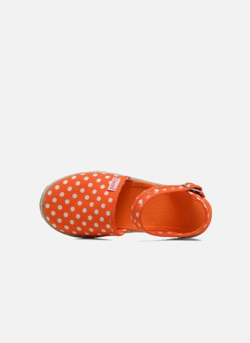 Sandals Cienta Margot Orange view from the left