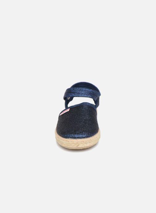 Sandales et nu-pieds Cienta Margot Bleu vue portées chaussures