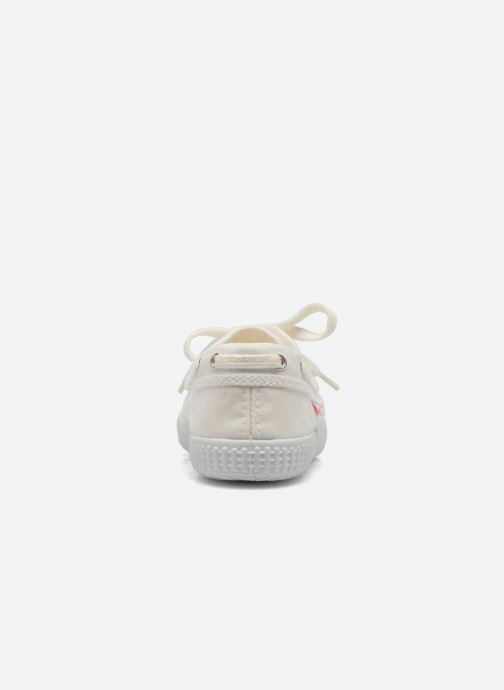 Lace-up shoes Cienta Martino White view from the right