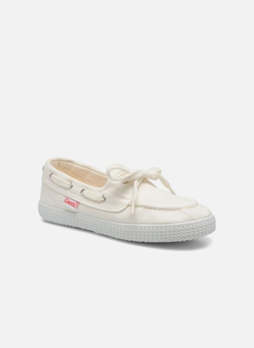 Lace-up shoes Cienta Martino White detailed view/ Pair view