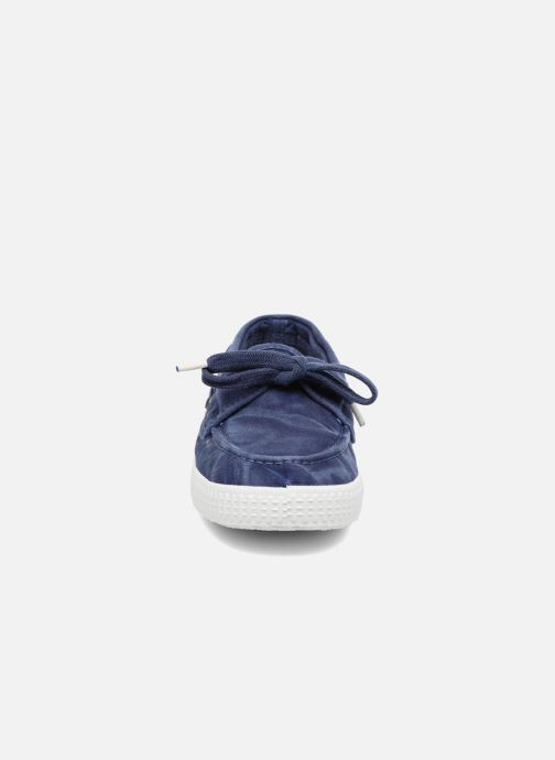 Scarpe con lacci Cienta Martino Azzurro modello indossato