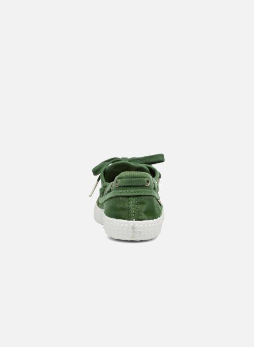 Zapatos con cordones Cienta Martino Verde vista lateral derecha