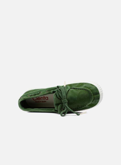 Zapatos con cordones Cienta Martino Verde vista lateral izquierda