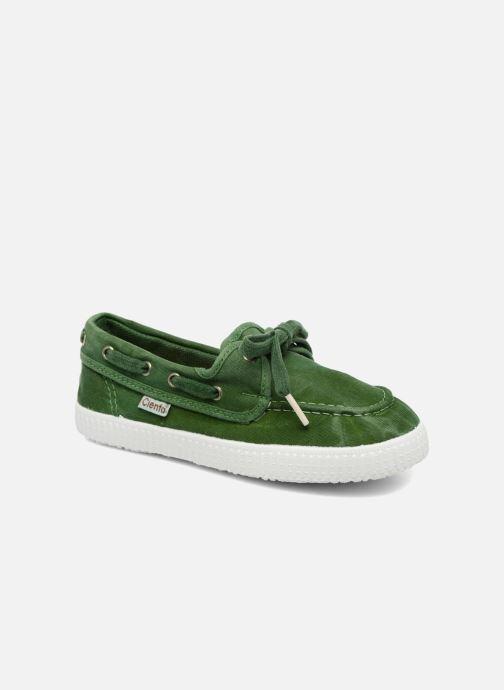 Zapatos con cordones Cienta Martino Verde vista de detalle / par