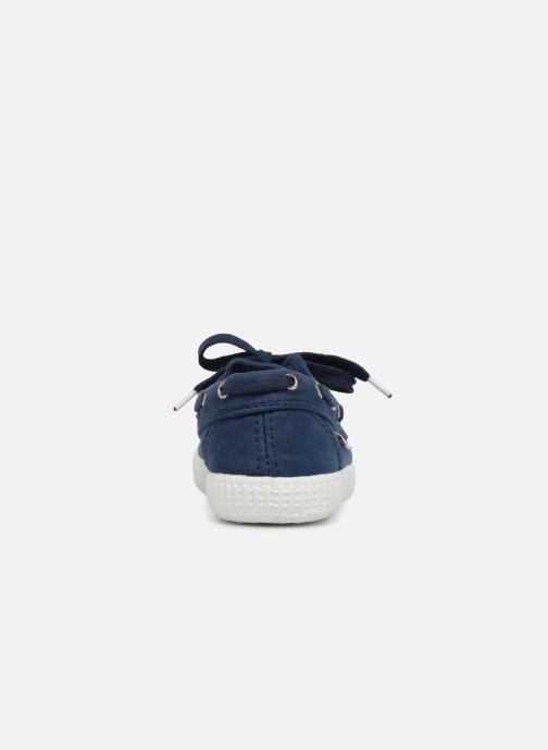 Zapatos con cordones Cienta Martino Azul vista lateral derecha