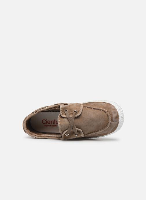 Zapatos con cordones Cienta Martino Beige vista lateral izquierda