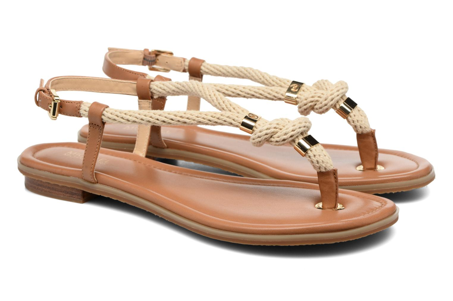 Sandals Michael Michael Kors Holly Sandal Brown 3/4 view