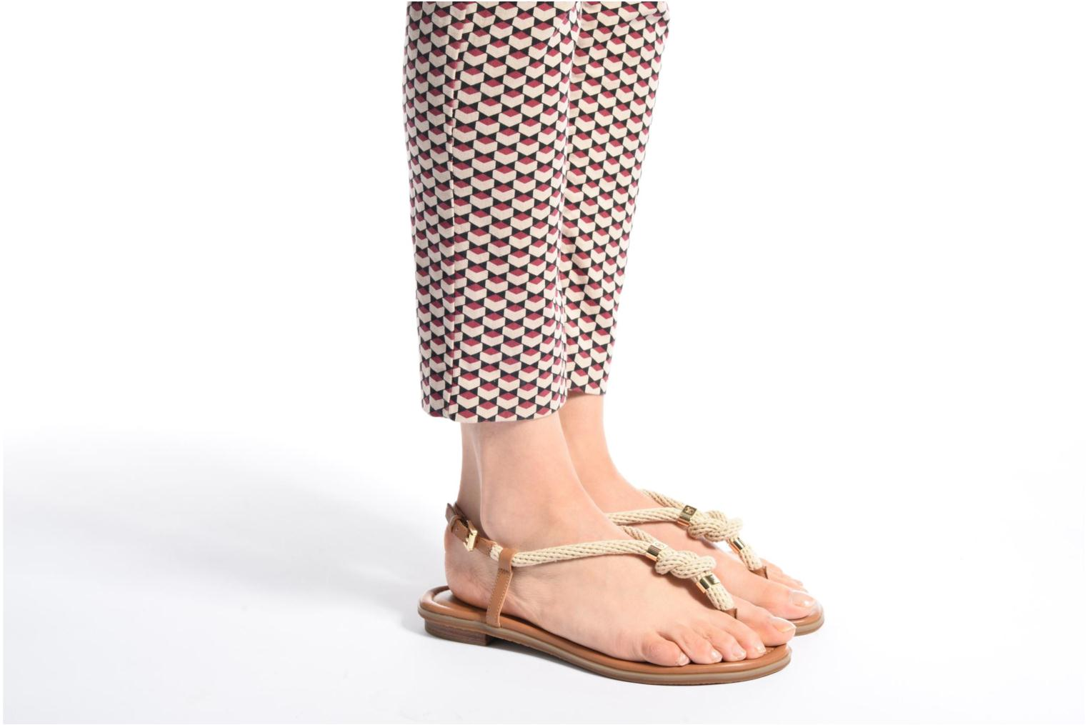 Sandals Michael Michael Kors Holly Sandal Brown view from underneath / model view