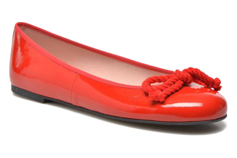 Bailarinas Pretty Ballerinas Rosario thick lace Rojo vista de detalle / par