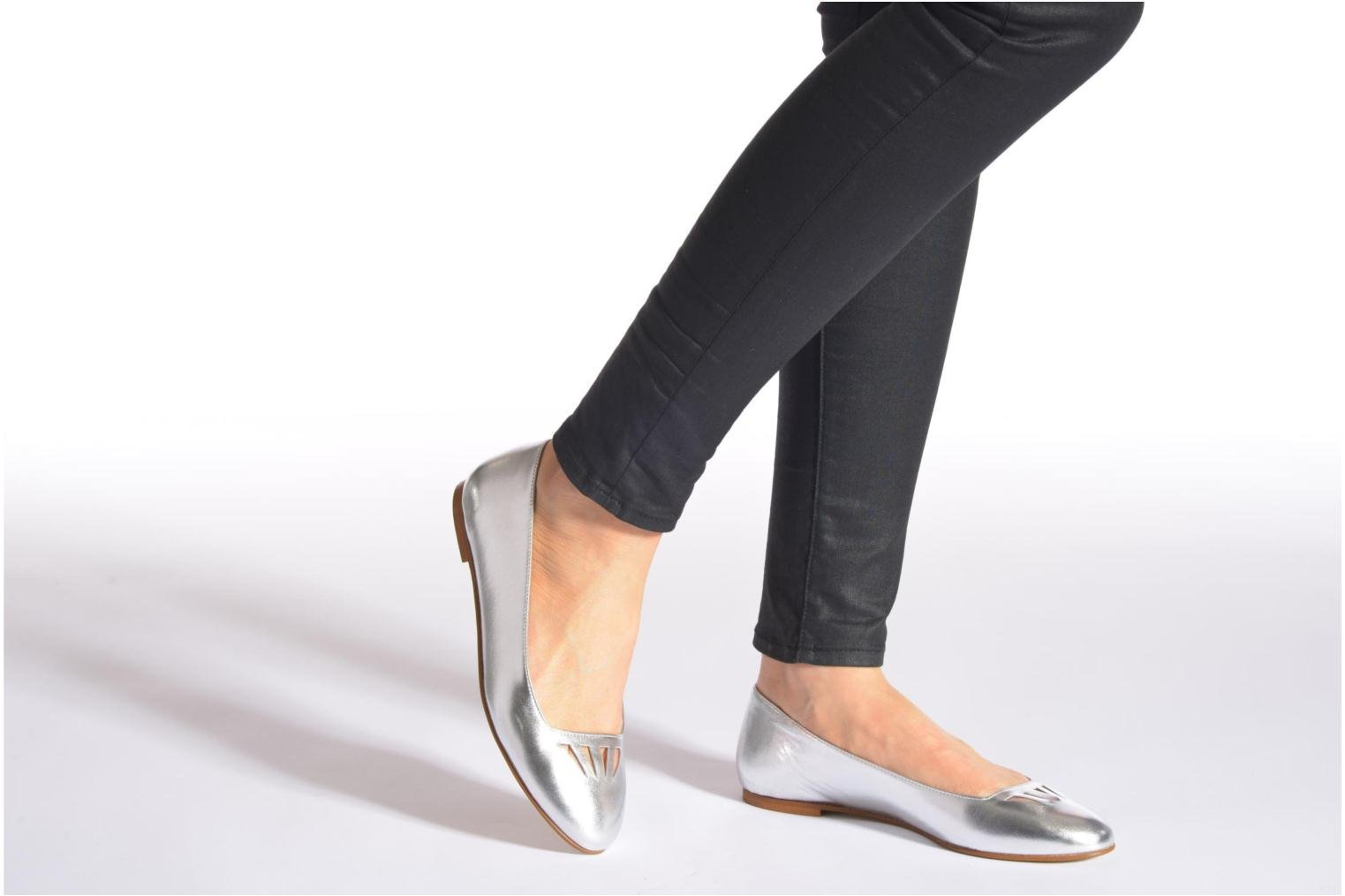 Ballet pumps Made by SARENZA Colette en terrasse #1 Silver view from underneath / model view
