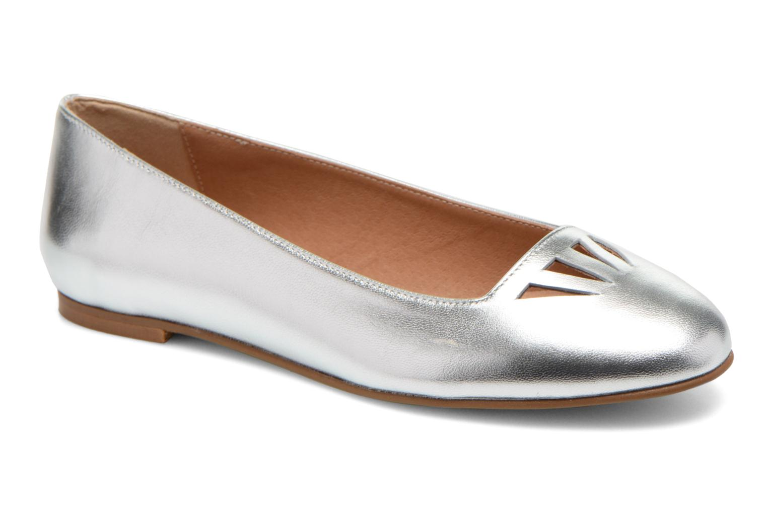 Ballet pumps Made by SARENZA Colette en terrasse #1 Silver view from the right